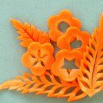 ニンジンの花と葉